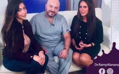 الفنانة دنيا عبد العزيز و دكتور رامي االعناني